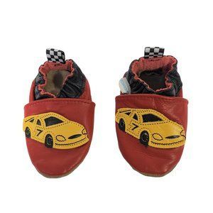 ROBEEZ Leather Red Racing Car Booties 4.5 in